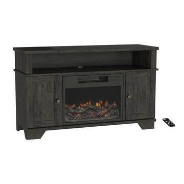 Electric Fireplace TV Stand - Media Cabinet & LED Flames by Northwest - 45 x 15.5 x 27.5