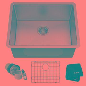 Kraus Standart PRO Undermount 23-in x 18-in Stainless Steel Single Bowl Kitchen Sink