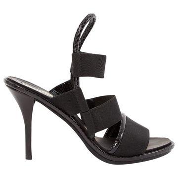 Balenciaga Black Cloth Sandals