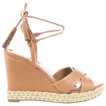 Aquazzura Brown Leather Sandals