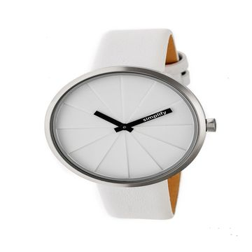Simplify Unisex White Strap Watch-Sim4001