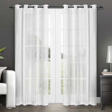 Exclusive Home Penny Sheer Window Curtains