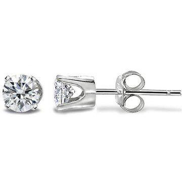 DB Designs 14k Gold 1/5ct TDW Diamond Round Stud Earrings
