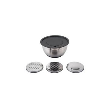 Hamilton Beach 2-Piece Mixing Bowl Set with Grating Lid Inserts