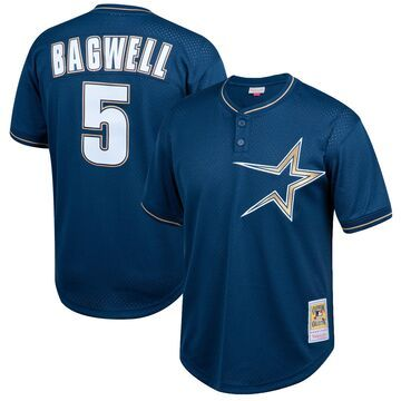 Mitchell & Ness Jeff Bagwell Houston Astros Navy Cooperstown Collection Big & Tall Mesh Batting Practice Jersey