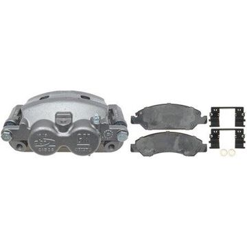 ACDelco 0 Professional Front Driver Side Disc Brake Caliper Assembly with Pads (Loaded), Remanufactured 18R266