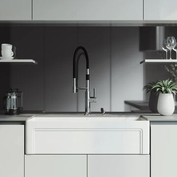VIGO 36-inch Matte Stone Kitchen Sink Set with Norwood Faucet