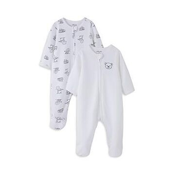 Little Me Boys' Playtime Footed Coverall, 2 Pack - Baby