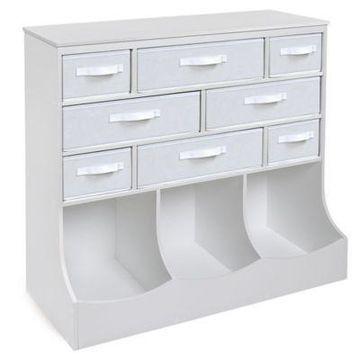 Badger Basket's Storage Station in White