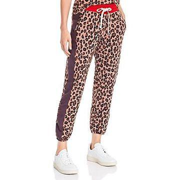 Monrow Leopard Print Sweatpants