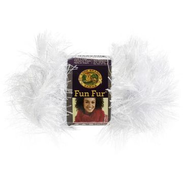 Lion Brand Fun Fur Yarn 12/Pk-White - White