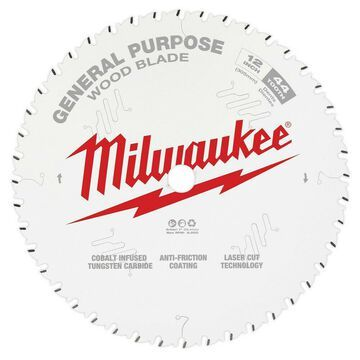 Milwaukee 12 in. 44T General Purpose Circular Saw Blade 48-40-1220 New