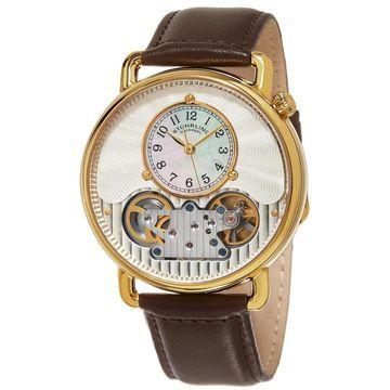 Stuhrling Original Men's Legacy Automatic Skeleton Brown Leather Strap Watch (Stuhrling Original Men's Watch)