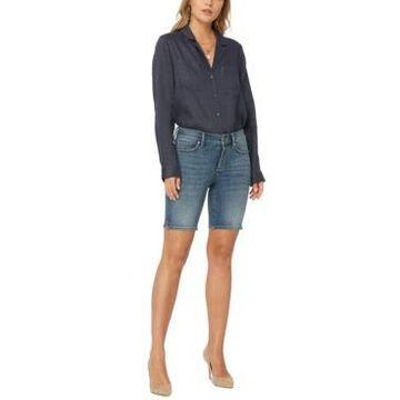 Nydj Ella Jean Side-Slit Shorts