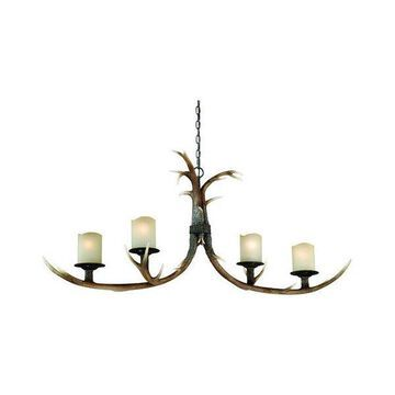 Vaxcel Lighting Yoho 4 Light Single Tier Chandelier w/ Frosted Glass S