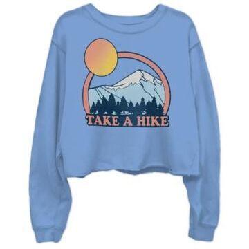 Junk Food Cotton Take A Hike Cropped Sweatshirt