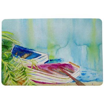Watercolor Rowboats Door Mat 30x50 (Multi)