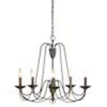 allen + roth Wintonburg 5-Light Aged Bronze French Country/Cottage Candle Chandelier
