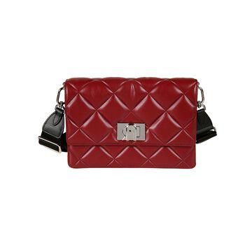 Furla Twist-lock Quilted Flap Shoulder Bag