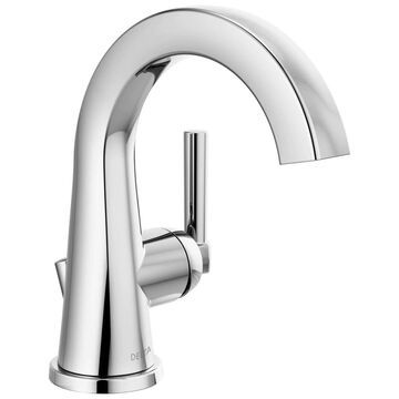 Delta Becker Chrome 1-Handle Single Hole WaterSense Bathroom Sink Faucet with Drain and Deck Plate | 15891LF