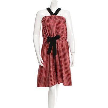 Printed Midi Dress w/ Tags Pink