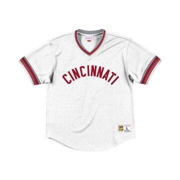 Men's Cincinnati Reds Mesh V-Neck Jersey