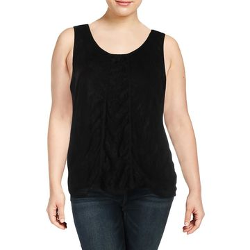 NY Collection Womens Embellished Sleeveless Blouse