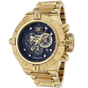 Invicta Men's 6553 Subaqua NOMA Gold Tone Black Dial Chronograph Watch