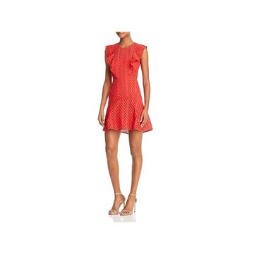 Bardot Womens Party Dress Ruffled Eyelet