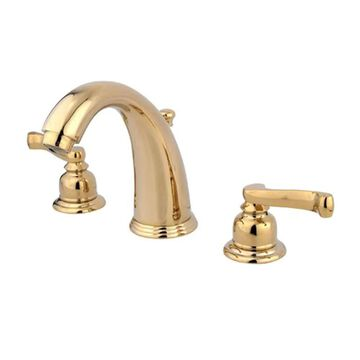 Elements of Design Magellan Polished Brass 2-Handle 8-in Widespread Bathroom Sink Faucet with Drain | EB982FL