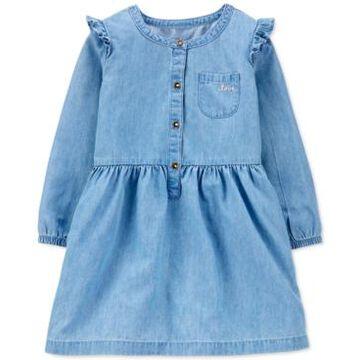 Carter's Toddler Girls Chambray Shirtdress