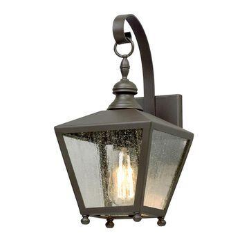 Troy Lighting Mumford 14.25-in H Bronze Medium Base (E-26) Outdoor Wall Light | B5191