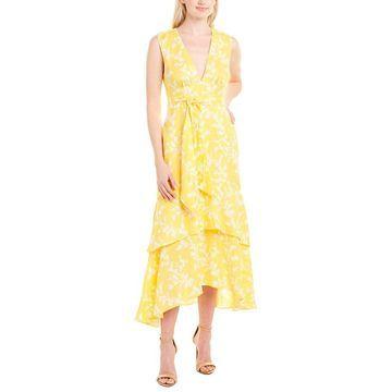 Keepsake Womens Fallen Linen Midi Dress