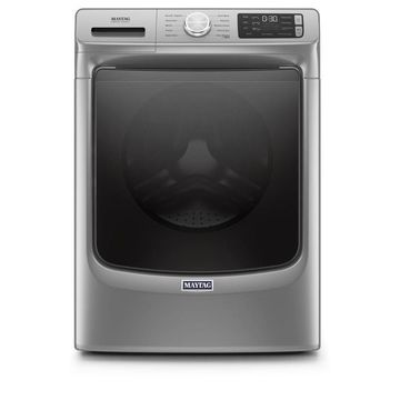 Maytag 4.5-cu ft High-Efficiency Front Load Washer with Extra Power and 12-hr Fresh Spin - Metallic Slate Stainless Steel