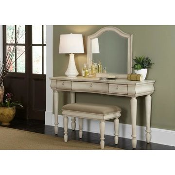 Rustic Traditions II White Vanity Desk
