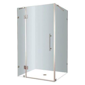 Aston Avalux Frameless Shower Enclosure, Stainless Steel, 40