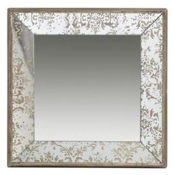 """A&B Home 23.6"""" Square Mirror In Gold"""
