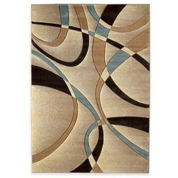 United Weavers Contours La Chic 7-Foot 10-Inch x 10-Foot 6-Inch Area Rug in Beige