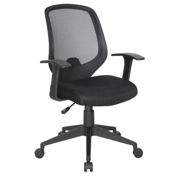 OFM Essentials by OFM Black Traditional Ergonomic Adjustable Height Task Chair   E1000