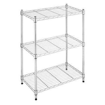 Whitmor Supreme Small 3-Tier Shelving, Chrome