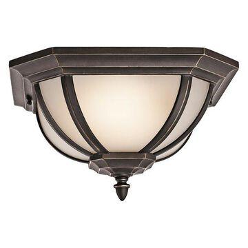 Kichler 9848RZS 2 Light Outdoor Ceiling Fixture from the Salisbury