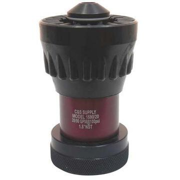 VIPER 1590-20 Fire Hose Nozzle,1-1/2 In.,Black