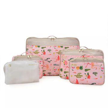 Traveler's Choice 5-Piece Packing Cube Set, Light Pink