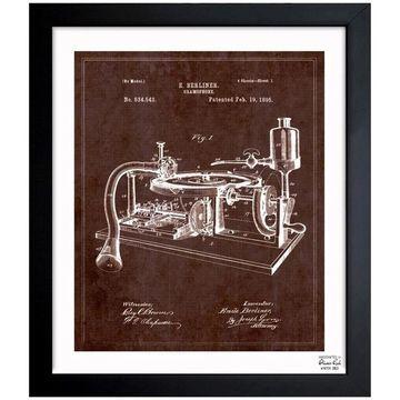 Oliver Gal 'Gramophone, 1985' Framed Blueprint Art