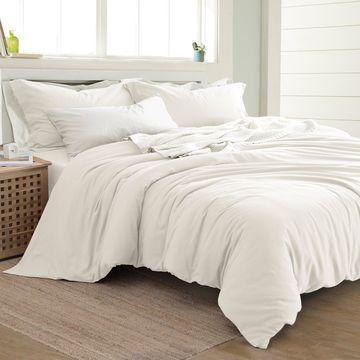 Amrapur Overseas Linen-Cotton Blend 3-Piece Duvet Set