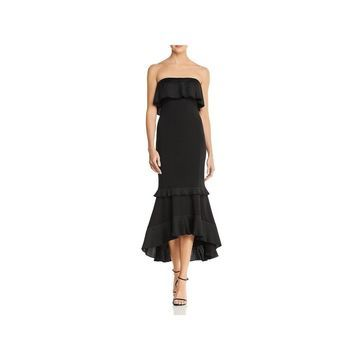 Aidan Mattox Womens Cocktail Dress Strapless Knee-Length