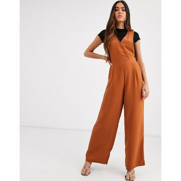 Y.A.S sleeveless jumpsuit in brown