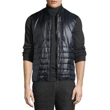 Men's Quilted Zip-Front Vest
