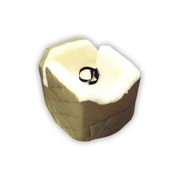 Snoozer Khaki Pet Car Seat Lookout II, Small, Khaki / Off-White