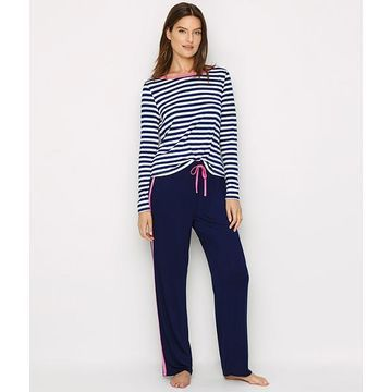 Jersey Knit Striped Pajama Set